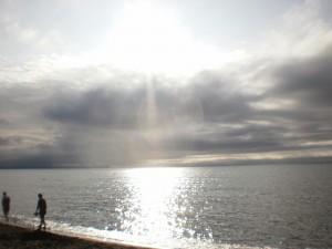 『8日の海、晴天ではありませんが素敵でした。』