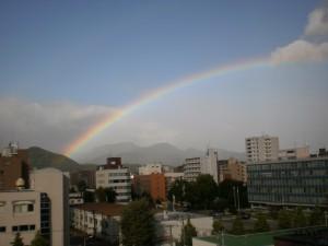 『出発前の贈り物~虹~』