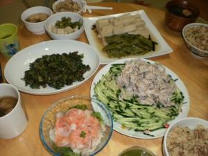 『陽ちゃんお手製の美味しい夕飯♪最高~(^o^)丿』
