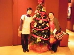 『ライオンキングのクリスマスツリーと一緒に遊々ちゃんと♪』