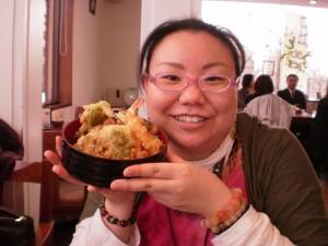 『お豆腐工房・めめさんの湯葉天丼♪』